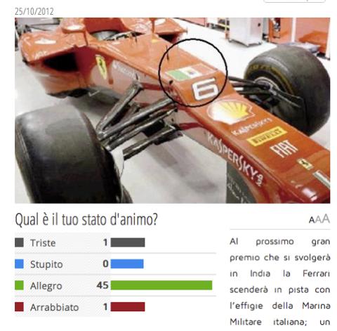 Immagine tratta dal sito di Libero. Il giornale ha toni incazzati, ma i lettori sembrano di buon umore.